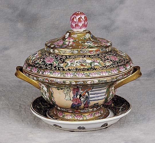 8: Chinese Export style covered tureen and underplate