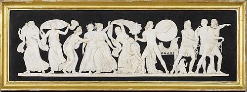 250: Wedgwood jasper plaque 19th century molded by Deva
