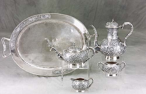 468: Chinese Export silver tea and coffee service  circ