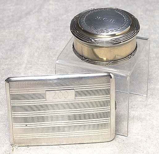 473: French silver box and American sterling case Frenc