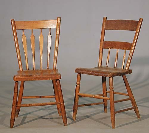22: Two American Windsor side chairs