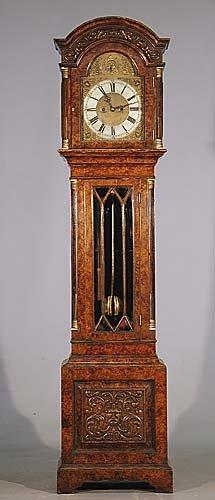 83: English walnut tall-case clock