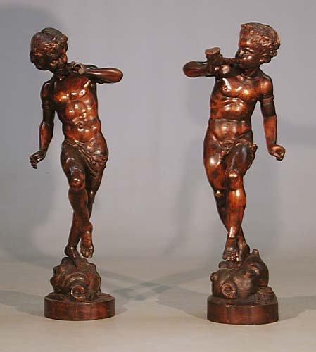 230: Pair of Italian carved wood figures