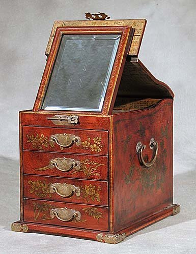 5: Chinese red lacquer storage box sloping li