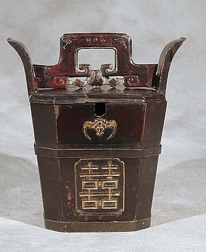 15: Japanese hardwood food storage box  late