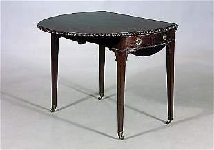 Georgian style mahogany pembroke table c