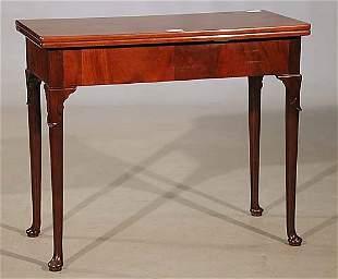 George III mahogany games table circa 18