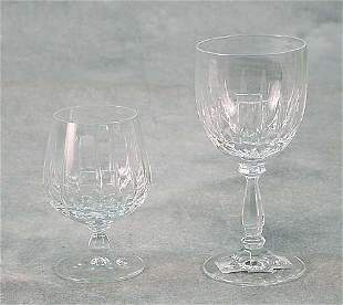 Cut-crystal stemware six champagne flute