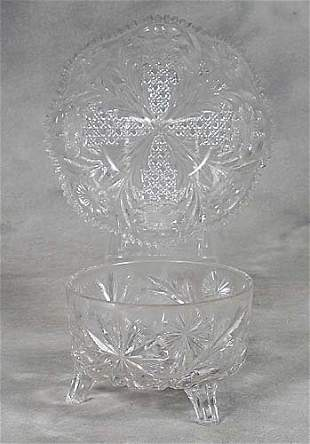 Libbey footed bowl and a bowl deep foote