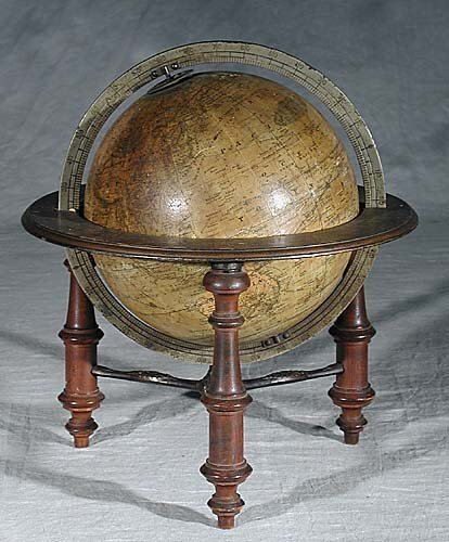 "336: M. Schedler's 9"" globe early 20th centur"