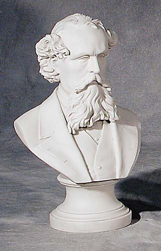 001: Parian ware bust of gentleman 19th centu