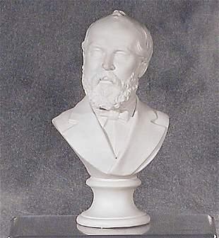 002: Parian ware bust of gentleman 19th centu