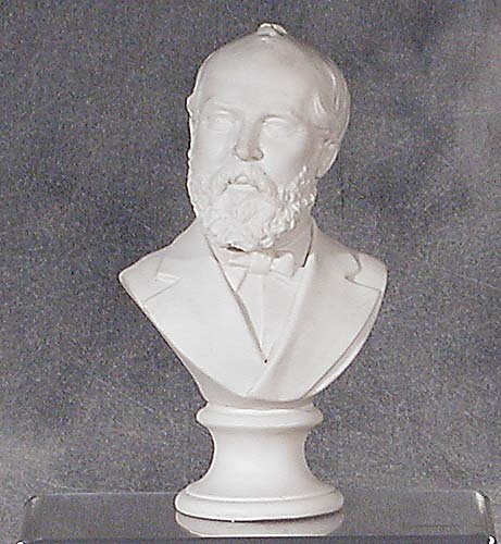 002: Parian ware bust of gentleman 19th centu