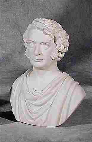 003: Parian ware bust of Charles Sumner 19th