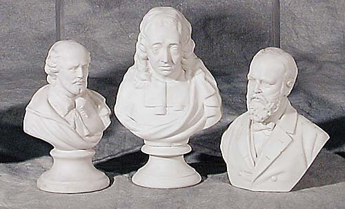 004: Three Parian ware busts 19th century Gar