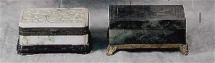 007: Two Chinese jade trinket boxes circa 190