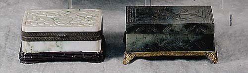 007: Two Chinese jade trinket boxes circa 190