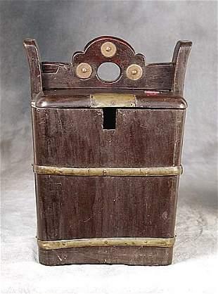 014: Chinese hardwood storage box circa 1880