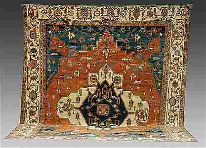 125: Rare antique Persian Bakhshayesh Serapi