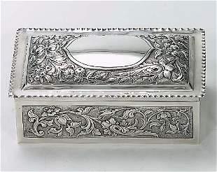 Victorian sterling trinket box London, d