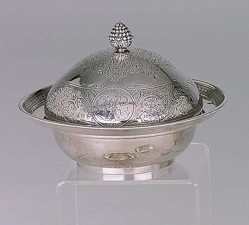 434: Tiffany & Co covered butter dish circa 1