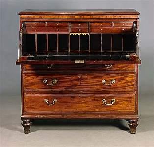 445: Scottish Georgian mahogany chest of draw