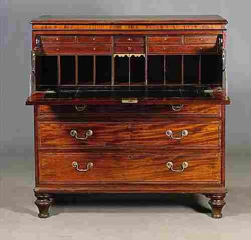 Scottish Georgian mahogany chest of draw