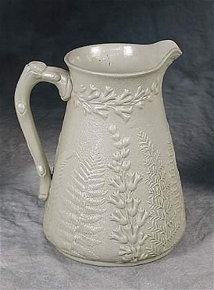 Bennington pottery pitcher late 19th ce