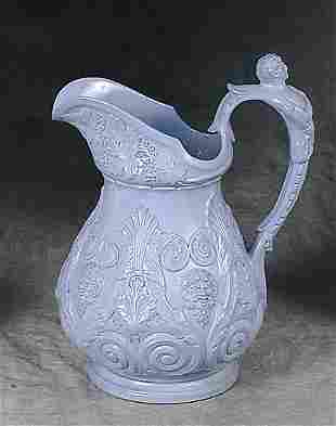 American pottery pitcher 19th century s