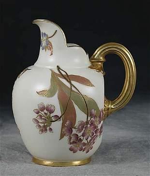 Royal Worcester porcelain pitcher circa