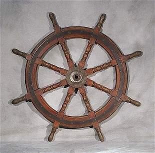 Ship's wheel early 20th century circular