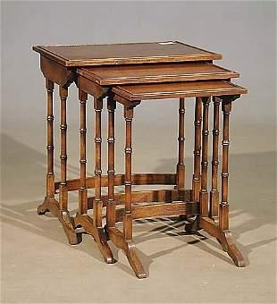 Regency style mahogany nesting tables, s