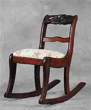 Child's mahogany rocking chair circa 190