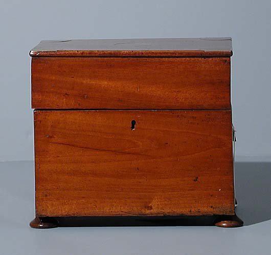 English mahogany letter box -circa 1890 -a hi