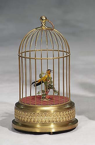 Griesbaum automaton of singing bird in brass