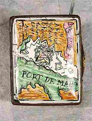 008: English enamel box late 19th/early 20th