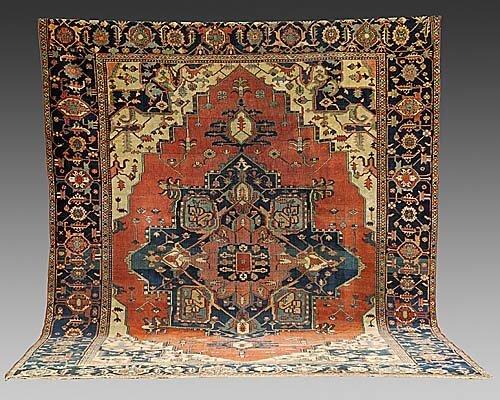 115: Antique Persian Serapi carpet circa 1880