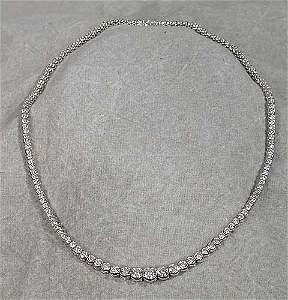 179: Platinum and diamond necklace consisting