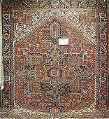 108A Antique Persian Heriz carpet circa 191