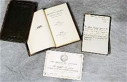 401: 2 vols. books: Lord Tennyson and documen