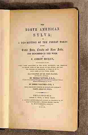 1 vol. book: THE NORTH AMERICAN SYLVA 1