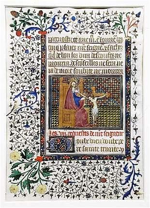 Manuscript illumination 15th century dep