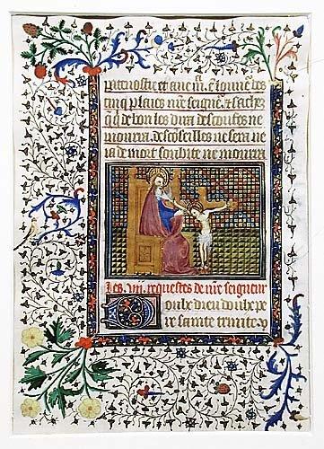 408: Manuscript illumination 15th century dep