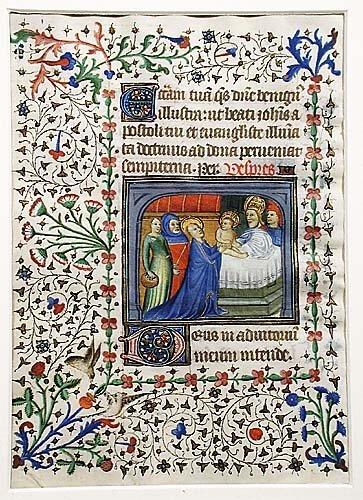 409: Manuscript illumination 15th century dep