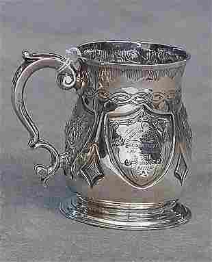 George II sterling silver tankard, Londo