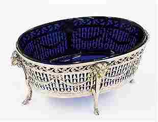 Continental silver center bowl 19th cent