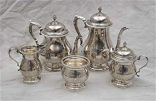 Five piece sterling coffee and tea servi