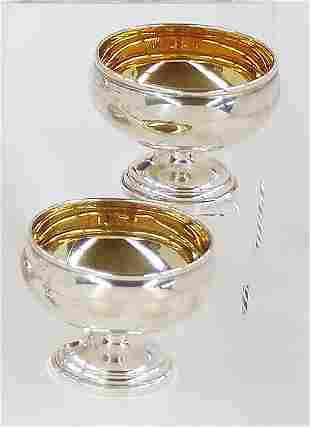 Eight sterling sherbets by Crown Silver