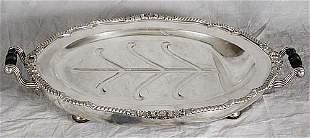 Silverplate hot water platter circa 1900
