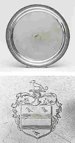 Charleston coin silver salver, by John M